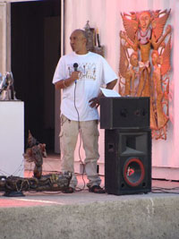 Maxence Denis à l'inauguration du Musée Georges Liautaud