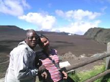 André et Barbara au volcan