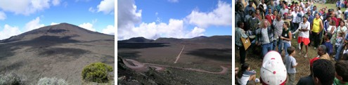 Vue du Piton de la Fournaise - Plaine des sables au volcan - Fête avec Daniel Waro