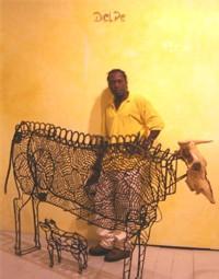 Jose Delpé et sa vache