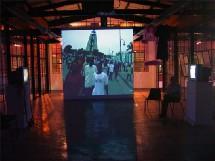 Projection vidéo sur Haïti