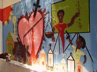 Murale réalisée au Centre AfricAméricA