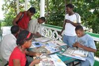 Jeunes au travail avec Casseus, Mairie de Jacmel