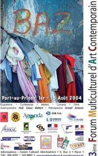 Affiche du Forum AfricAméricA 2004