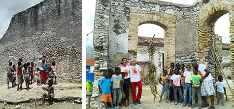 4 avril, en matinée, installations des les ruines de l'ancienne douane, au bord de mer ©_Safimag