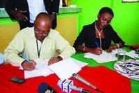 Signature du protocole d'entente entre la Mairie de Port-au-Prince et la KAABÈL