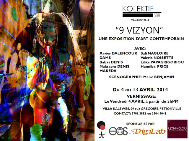 """9 VIZYON"" - Exposition collective d'art contemporain - Vernissage, Villa Kalewès, 4 avril 2014, à partir de 5h pm"