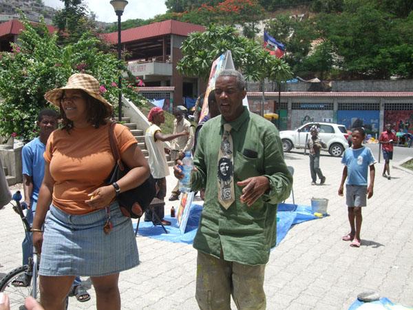 Au canap vert peindre dans la ville galerie for Canape vert hospital haiti